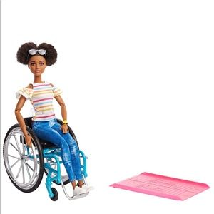 African American Barbie in wheelchair